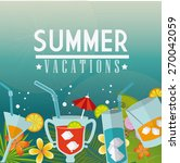summer design over blue... | Shutterstock .eps vector #270042059