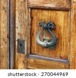 old durable brass door knocker | Shutterstock . vector #270044969