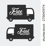 delivery service design  vector ... | Shutterstock .eps vector #270045974