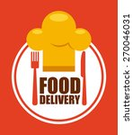 food delivery design  vector... | Shutterstock .eps vector #270046031
