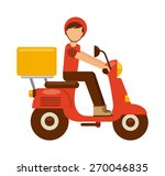 food delivery design  vector... | Shutterstock .eps vector #270046835