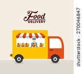 food delivery design  vector... | Shutterstock .eps vector #270046847