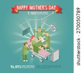 happy mother's day. a mother... | Shutterstock .eps vector #270050789