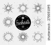 set of vintage sunburst shapes... | Shutterstock .eps vector #270051095