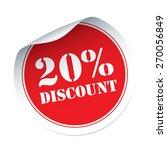20  discount vector sticker | Shutterstock .eps vector #270056849