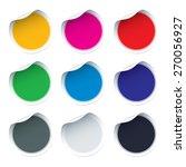 set of blank vector stickers. | Shutterstock .eps vector #270056927