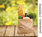 bag  groceries  shopping bag. | Shutterstock . vector #270059954
