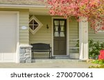 a nice entrance of a luxury... | Shutterstock . vector #270070061