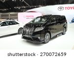Small photo of BANGKOK - MARCH 25: Toyota All New Alphard car on display at The 36 th Bangkok International Motor Show on March 25, 2015 in Bangkok, Thailand.