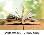 book  open  page. | Shutterstock . vector #270075809