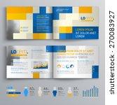 mosaic brochure template design ... | Shutterstock .eps vector #270083927