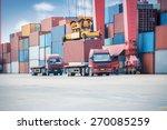 industrial crane loading... | Shutterstock . vector #270085259