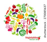 vegetables vector colored icons ... | Shutterstock .eps vector #270085637