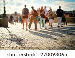 people walking on the charles... | Shutterstock . vector #270093065
