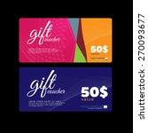 gift voucher colorful | Shutterstock .eps vector #270093677