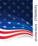 american flag background  | Shutterstock . vector #270098351