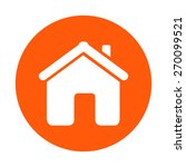 vector home icon in flat style