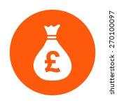 money bag icon. pound gbp...