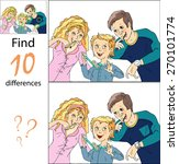 find differences family of...   Shutterstock .eps vector #270101774