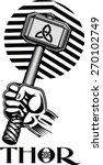 thors hammer  | Shutterstock .eps vector #270102749