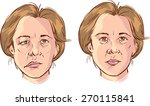 facial lopsided illustration | Shutterstock .eps vector #270115841