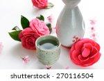 Sake With Spring Flowers...