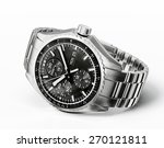 wrist watch isolated on a white ... | Shutterstock . vector #270121811