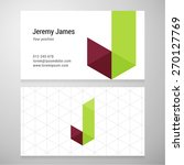modern letter j origami... | Shutterstock .eps vector #270127769