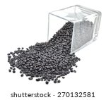 a lot of black bean isolated on ... | Shutterstock . vector #270132581