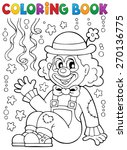 coloring book with cheerful... | Shutterstock .eps vector #270136775