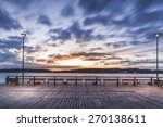 lighted pier | Shutterstock . vector #270138611