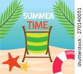 summer time beach vector... | Shutterstock .eps vector #270140051