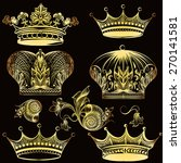vector set of crowns for your... | Shutterstock .eps vector #270141581