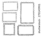 set of doodle frames on white... | Shutterstock .eps vector #270145901