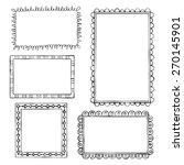 set of doodle frames on white... | Shutterstock .eps vector #270145901