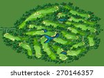 golf course map. resort layout... | Shutterstock .eps vector #270146357