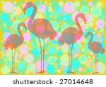 transparent flamingo silhouette ... | Shutterstock . vector #27014648