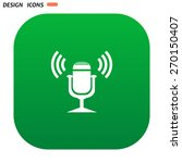 microphone. voice recording.... | Shutterstock .eps vector #270150407