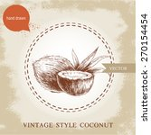 hand drawn coconuts isolated on ... | Shutterstock .eps vector #270154454