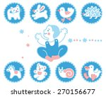 icon set with baby and toys | Shutterstock .eps vector #270156677