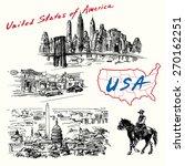 usa  new york  washington  ... | Shutterstock .eps vector #270162251