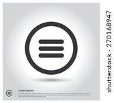 expand menu circle icon vector... | Shutterstock .eps vector #270168947