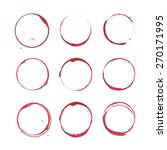 vector set of isolated red wine ...