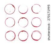 wine bottom glass ring stains... | Shutterstock .eps vector #270171995