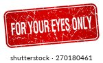 for your eyes only red square... | Shutterstock .eps vector #270180461