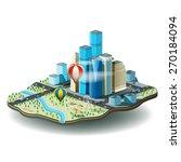 vector illustration of city... | Shutterstock .eps vector #270184094