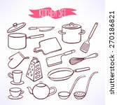 set with various cooking... | Shutterstock .eps vector #270186821
