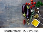 fresh eggplants with aromatic... | Shutterstock . vector #270193751