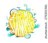 bright yellow bubble design... | Shutterstock .eps vector #270201581