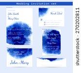 wedding watercolor set.... | Shutterstock .eps vector #270202811